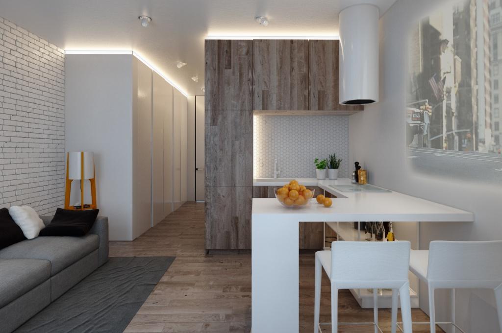 Ламинат в интерьере однокомнатной квартиры