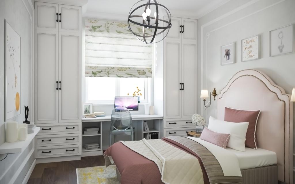 Комната в классическом стиле для девушки 16 лет