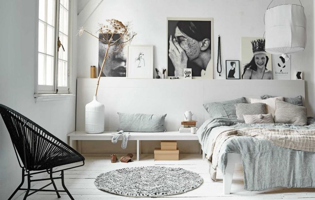 Скандинавский дизайн в спальне
