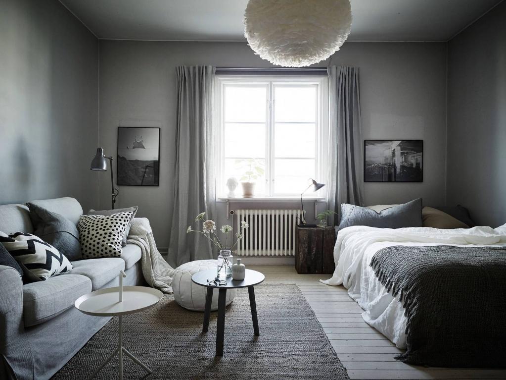 Скандинавский дизайн в серых тонах