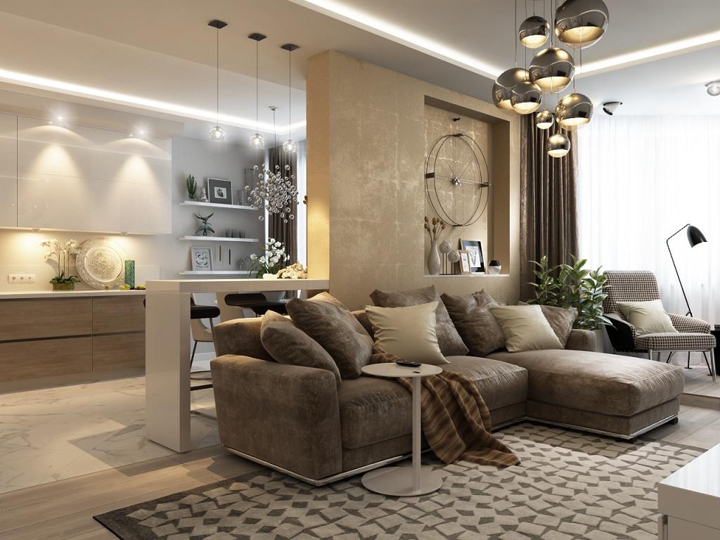 Комбинированные вариант освещения в квартире