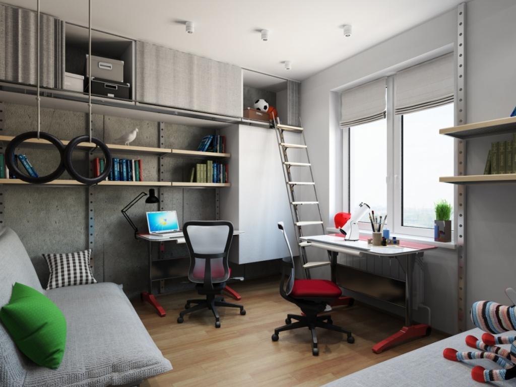 Необходимая мебель для подростковой комнаты двух мальчиков