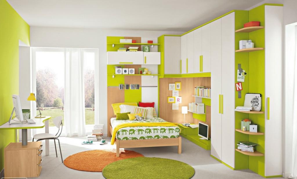 Детская в сочных зеленых оттенках
