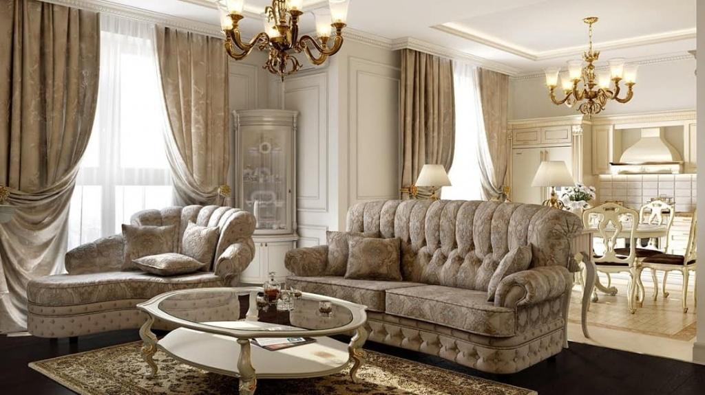 Пример освещения в однокомнатной квартире