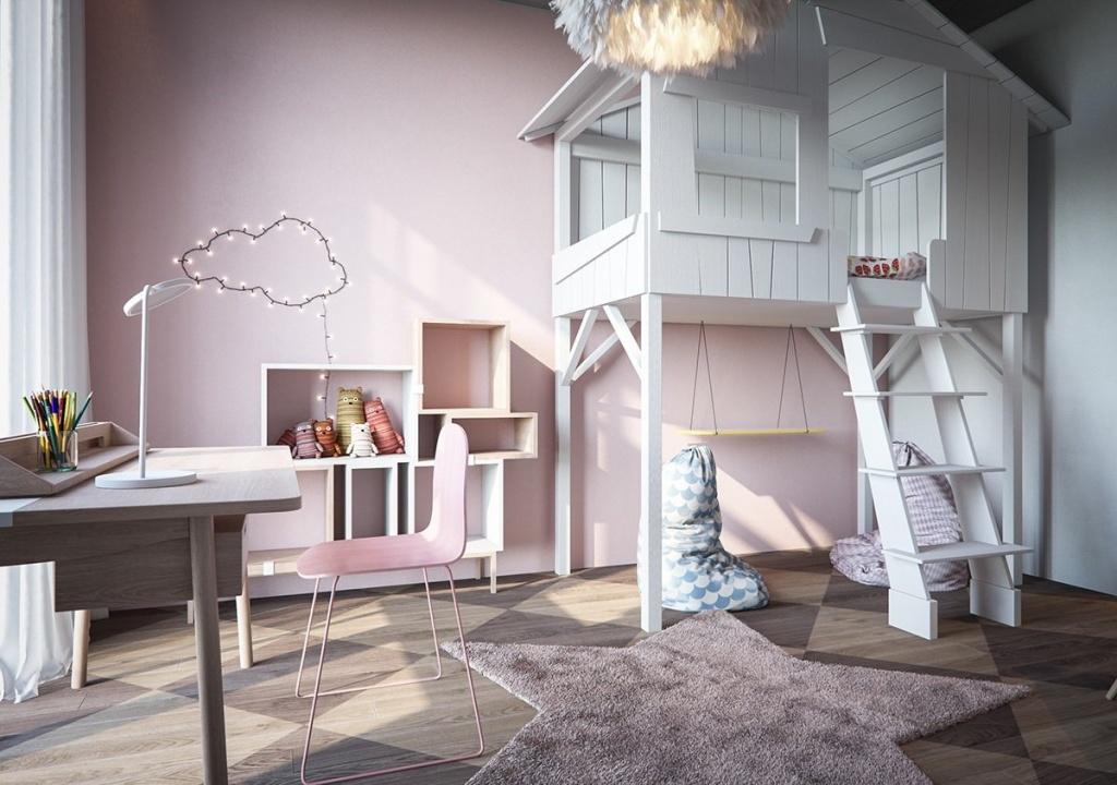 Домик-кровать для сна и игр