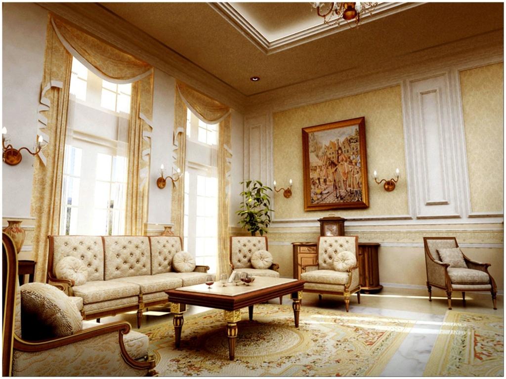 дизайн гостиной в классическом стиле беспроигрышный вариант оформления