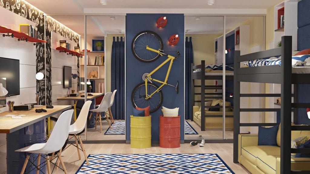 Фото дизайна комнаты для двух мальчиков подростков