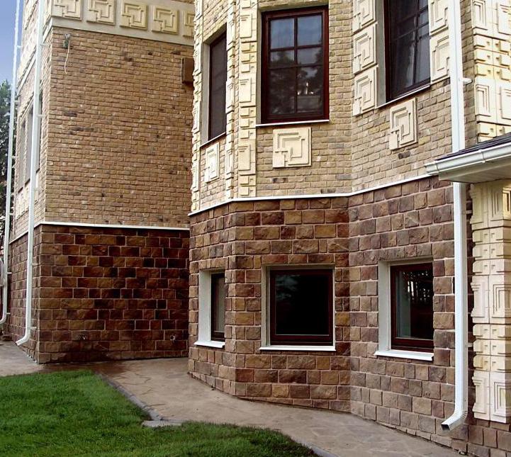 Фото: применение искусственного фасадного камня