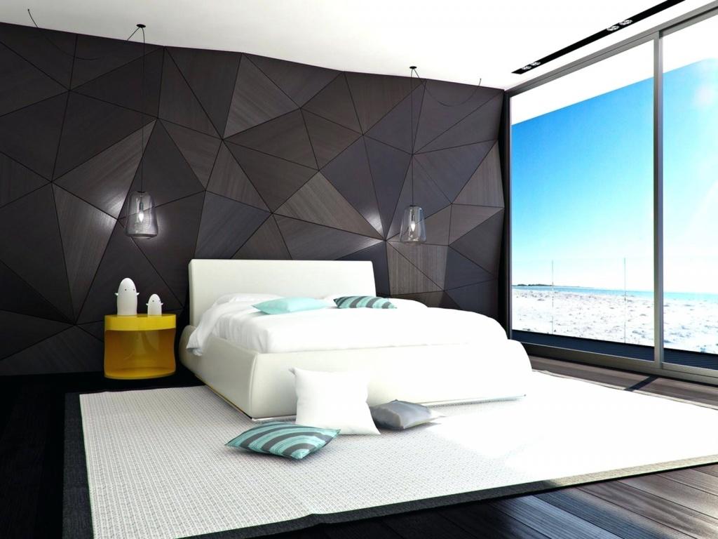 монохромная спальня с дополнительным декором