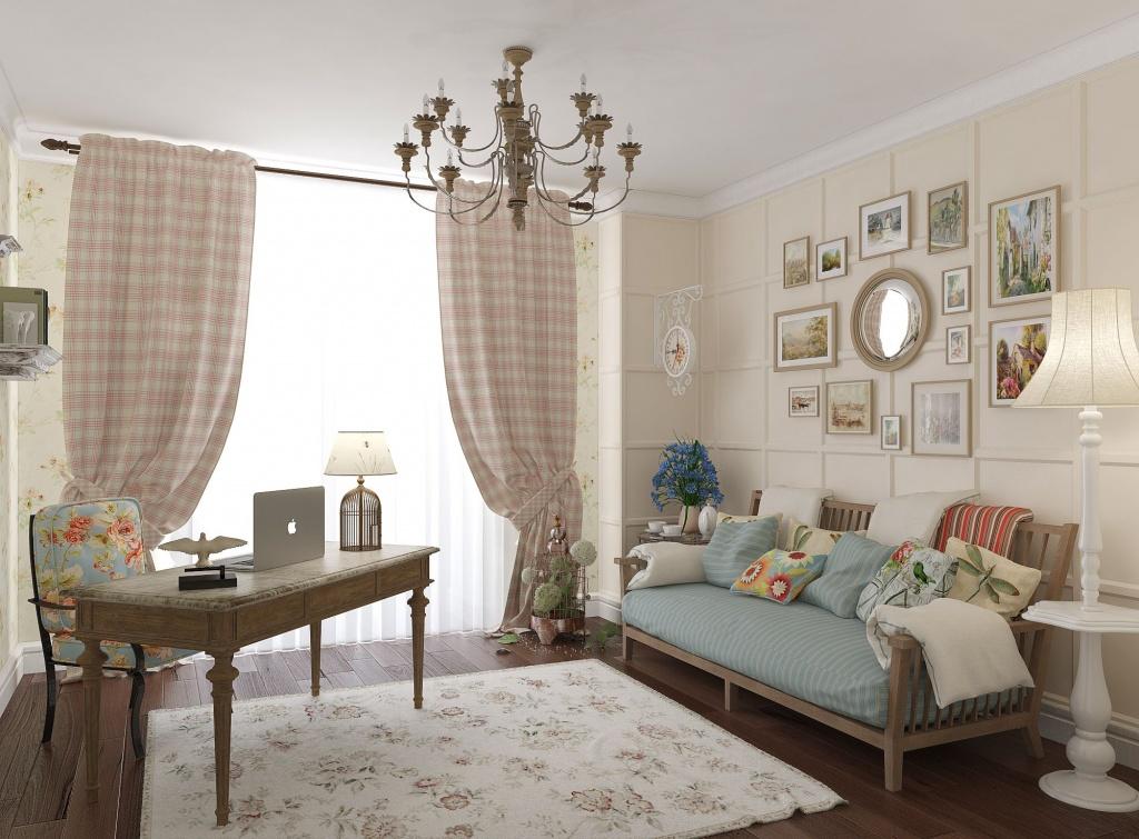 Деревенский диванчик для гостиной
