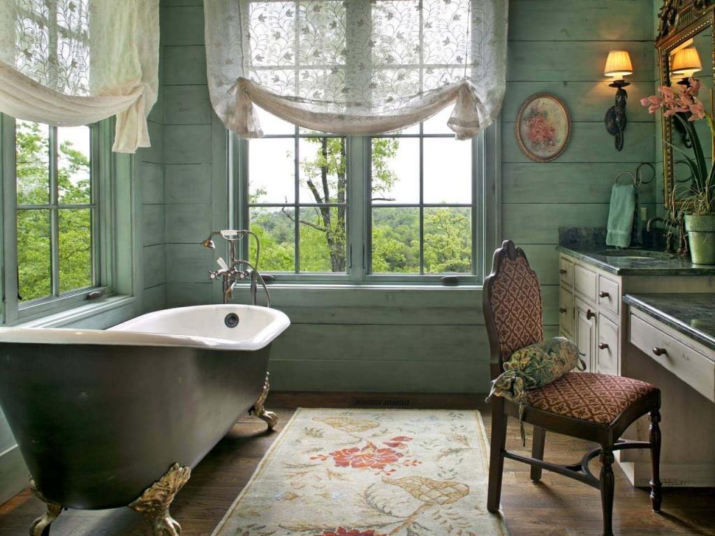 каноничная винтажная ванная комната