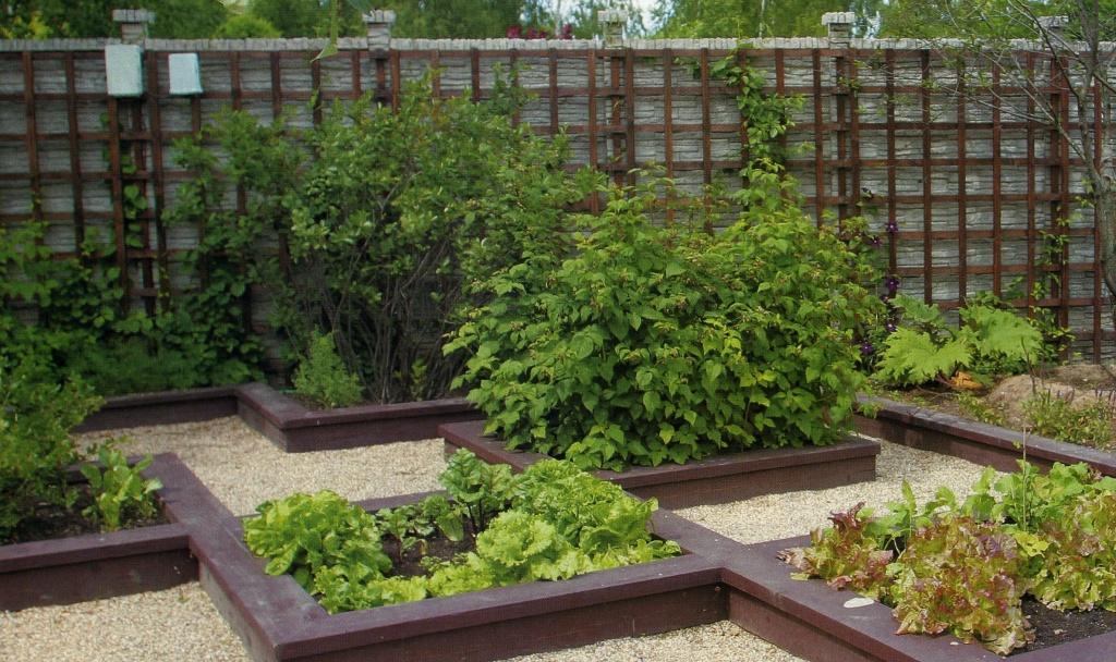 необычное размещение декоративного сада и лекарственных трав