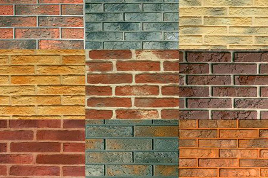 Фото: варианты покраски кирпичной стены