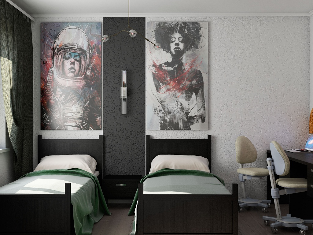 Цветовая гамма комнаты для мальчиков подросткового возраста