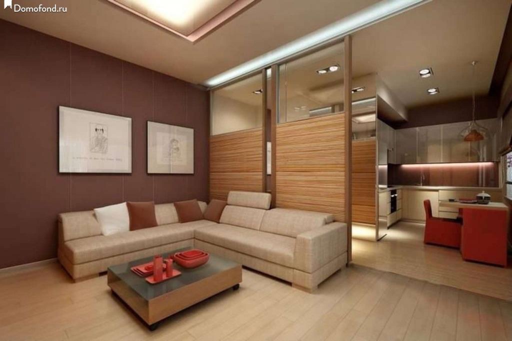 Вариант реконструкции в однокомнатной угловой квартире