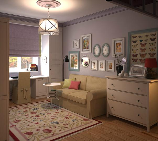Простая мебель в комнате