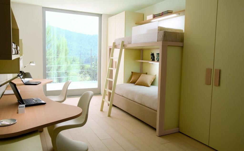 Двухэтажная кровать-ракушка для подростков