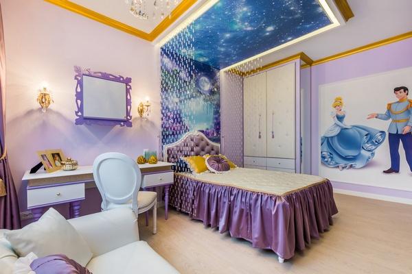 Комната для девочки в сиреневой гамме
