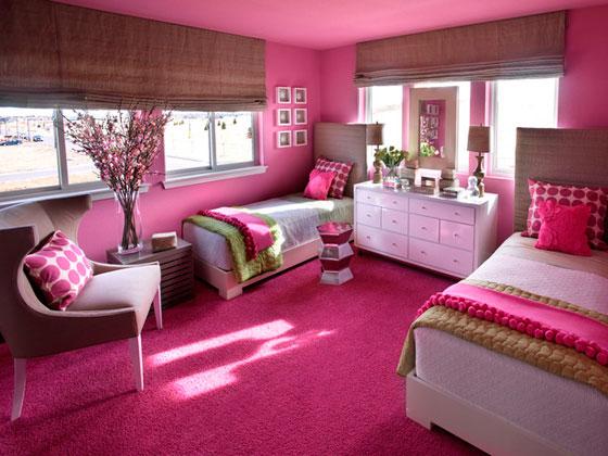Интерьер в розовой гамме