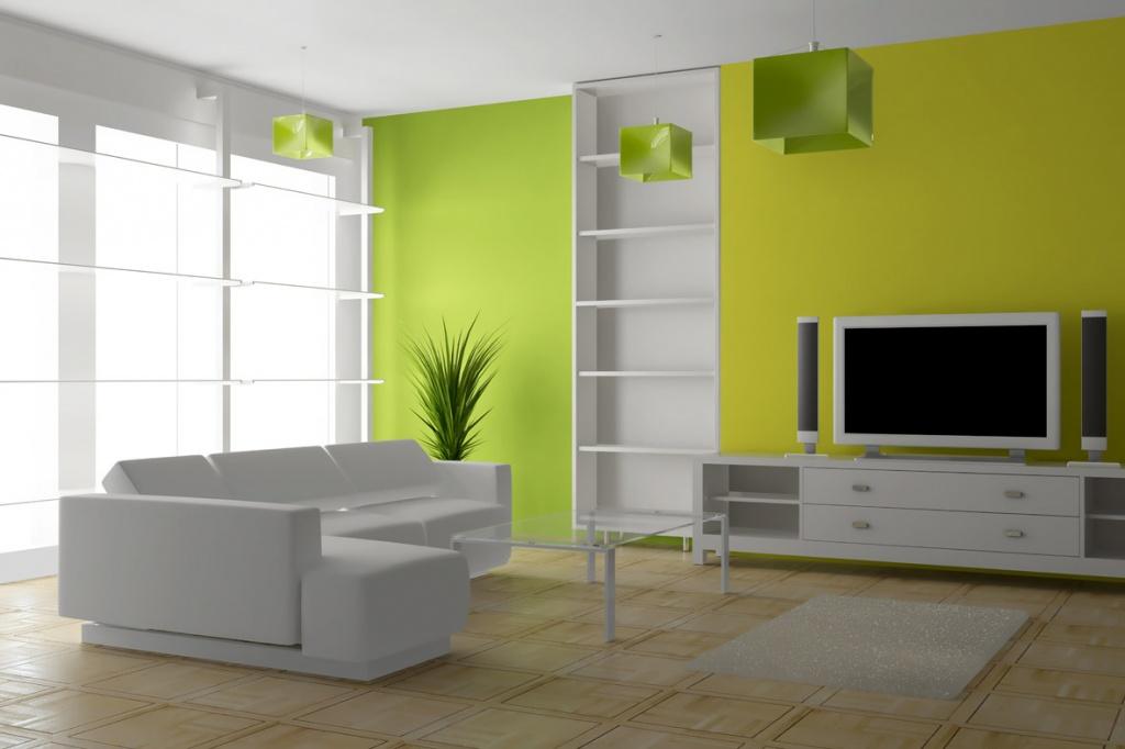 типовой графический дизайн минималистичной гостиной