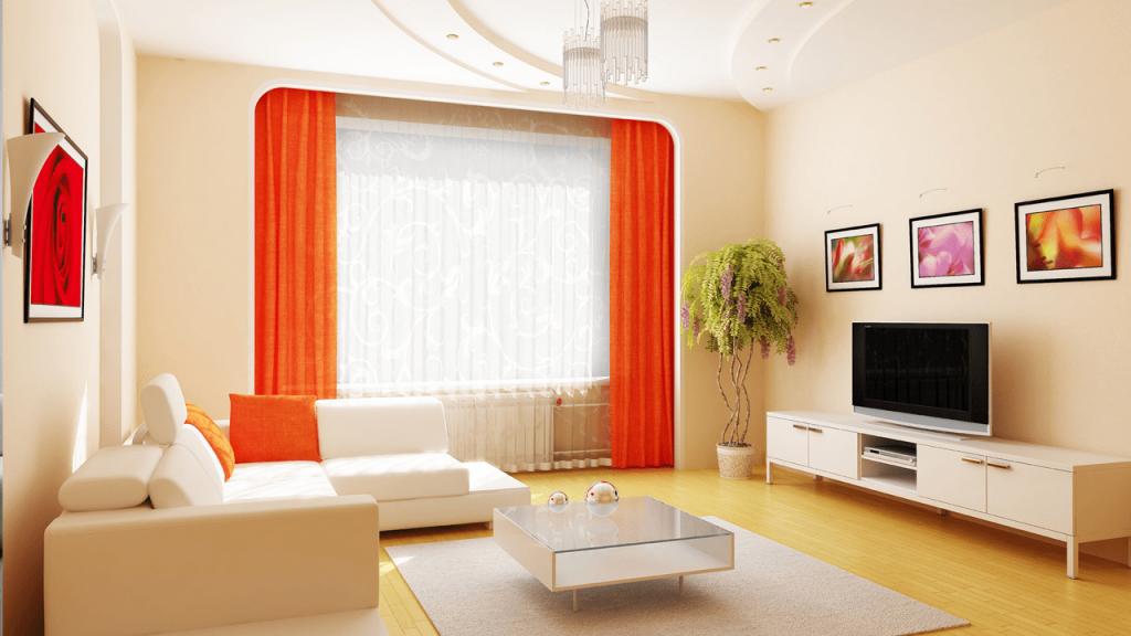 Интерьер однокомнатной квартиры в светлой цветовой гамме