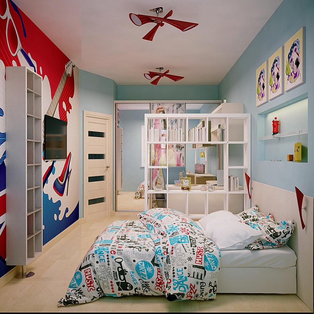 Комната с элементами поп-арт
