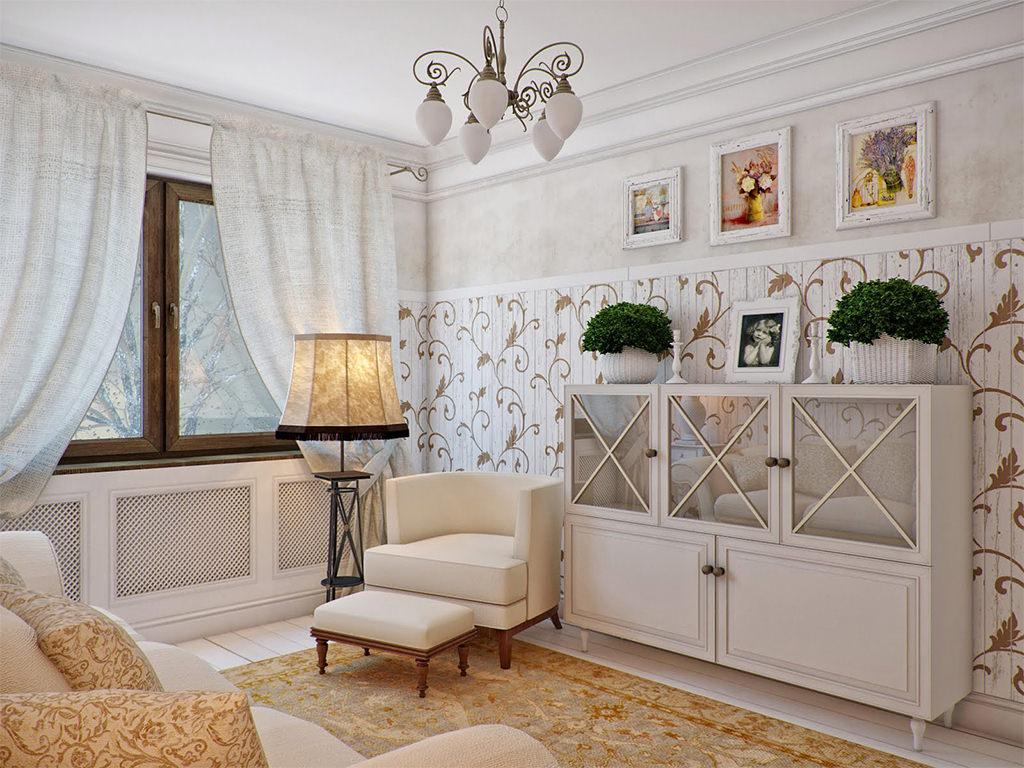 Элементы стиля в гостиной