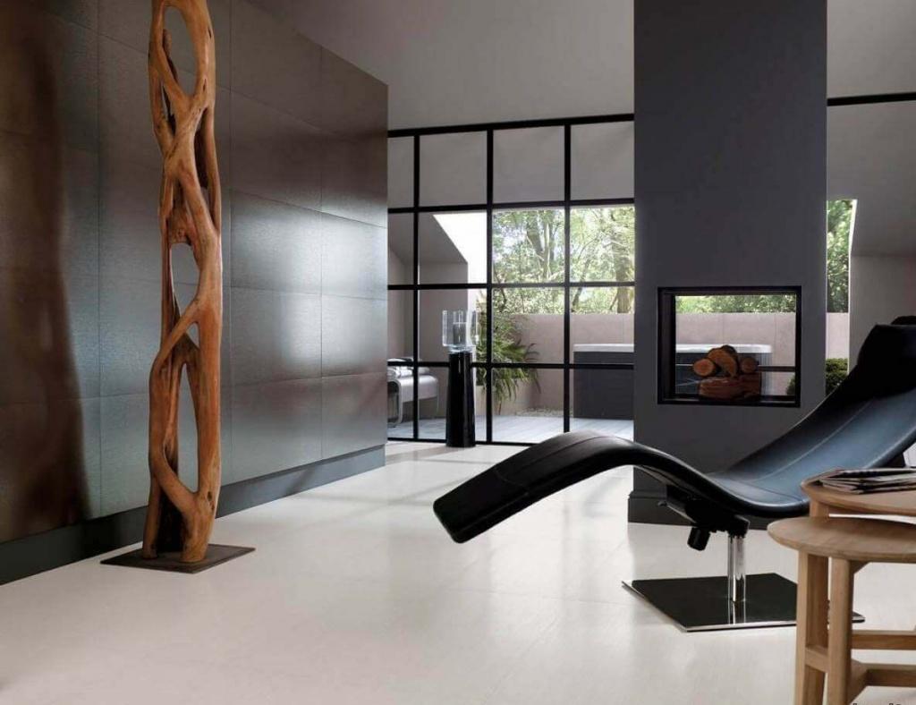 роскошная минималистичная студия с использованием качественных материалов