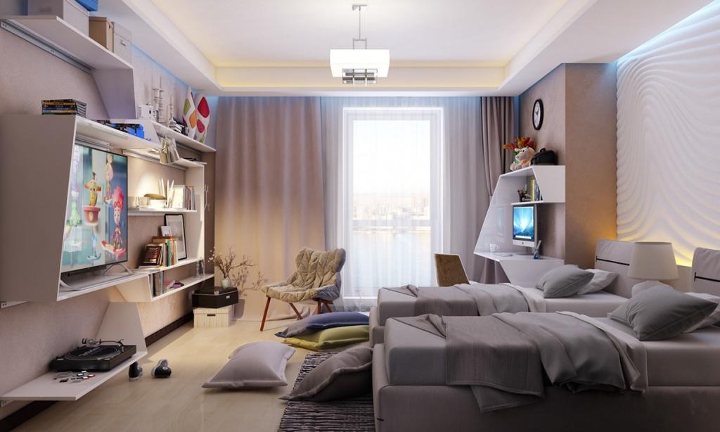 Уютная и комфортная комната для двух тинэйджеров