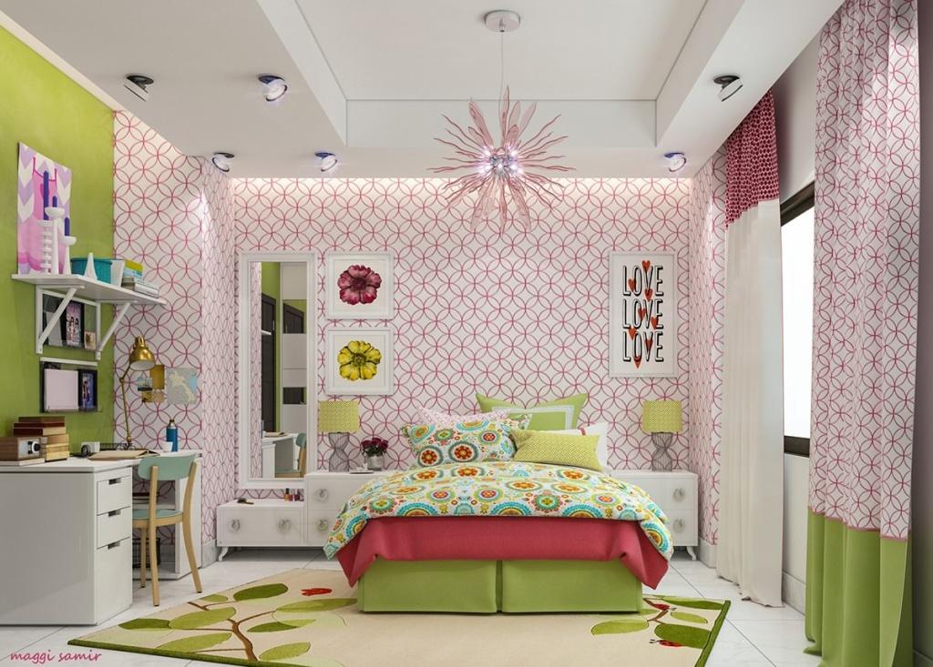Комната с разноплановым освещением