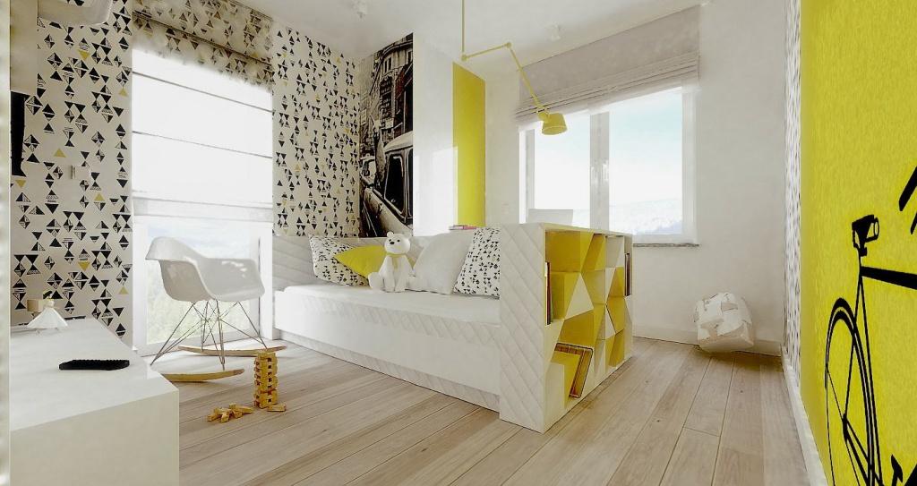 Комната для девочки в стиле хай-тек