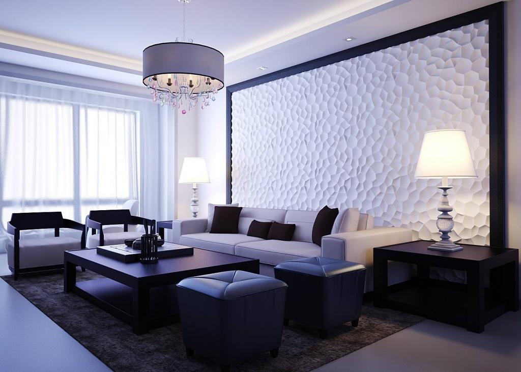 Пример декорирования стен в квартире студии