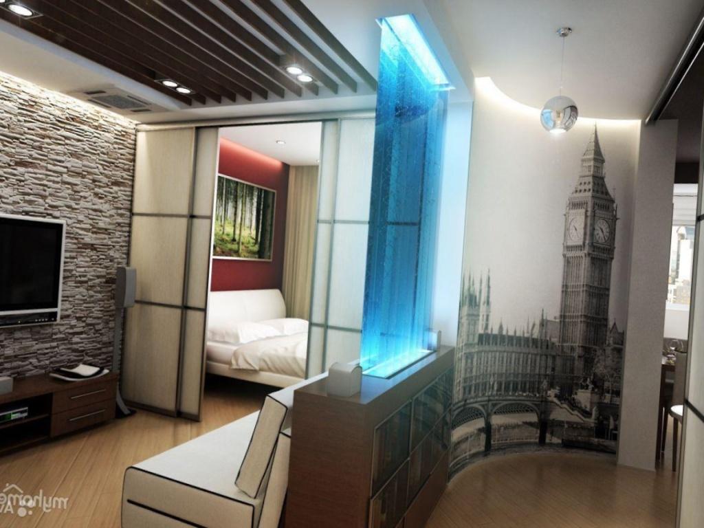 Эффектный современный дизайн маленькой однокомнатной квартиры