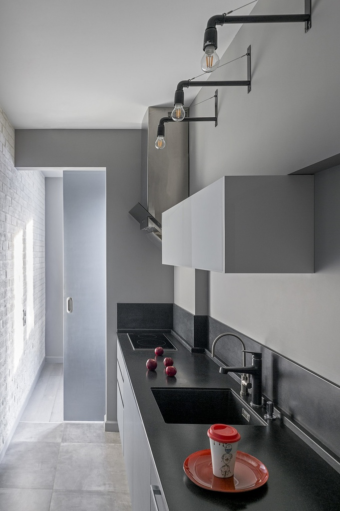 Лаконичная кухня для малогабаритной квартиры