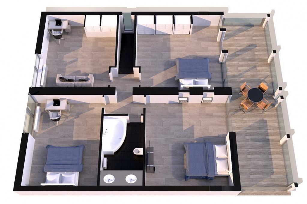 15. Планировка второго этажа с тремя спальнями.jpg