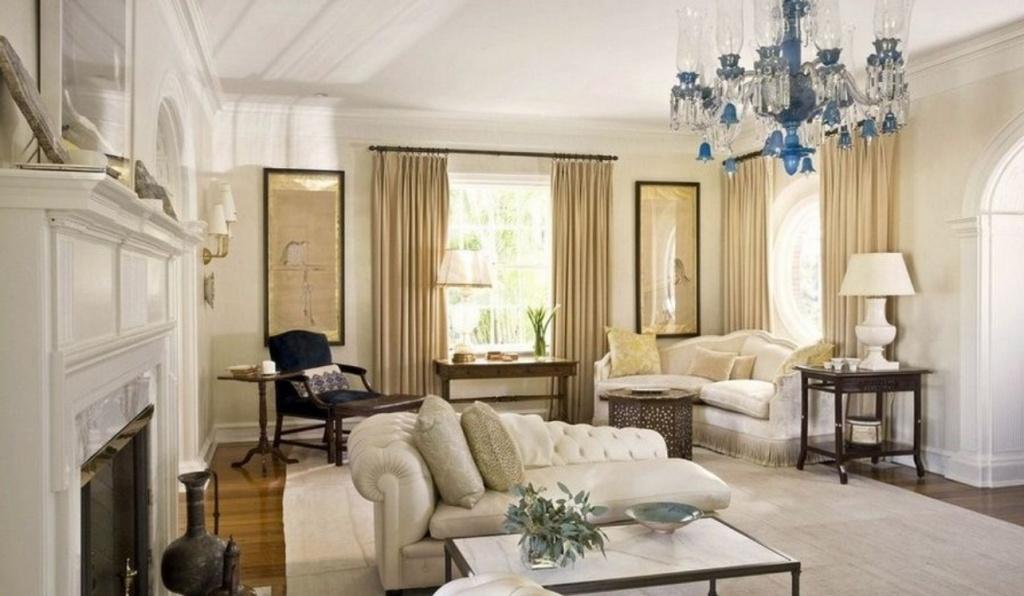 Контрастное сочетание светлых и темных тонов в дизайне гостиной