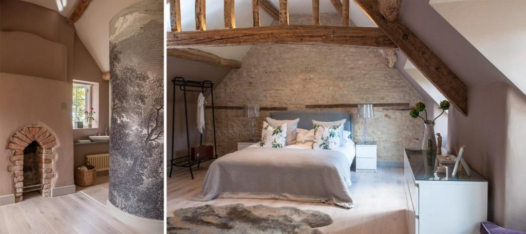 Варианты отделки спальни и каминной