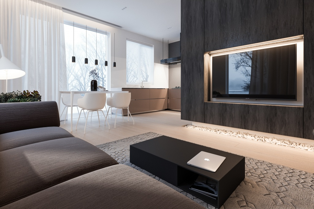 Квартира студия в минималистичном стиле