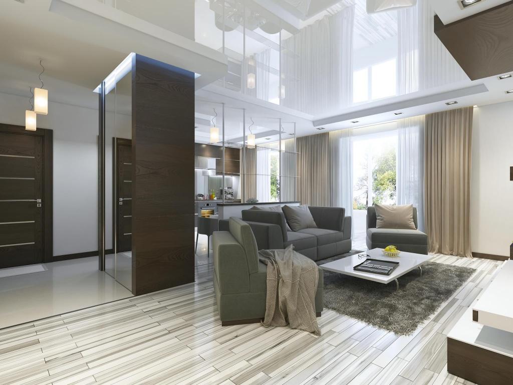 Пример дизайна квартиры с применением зеркальных поверхностей