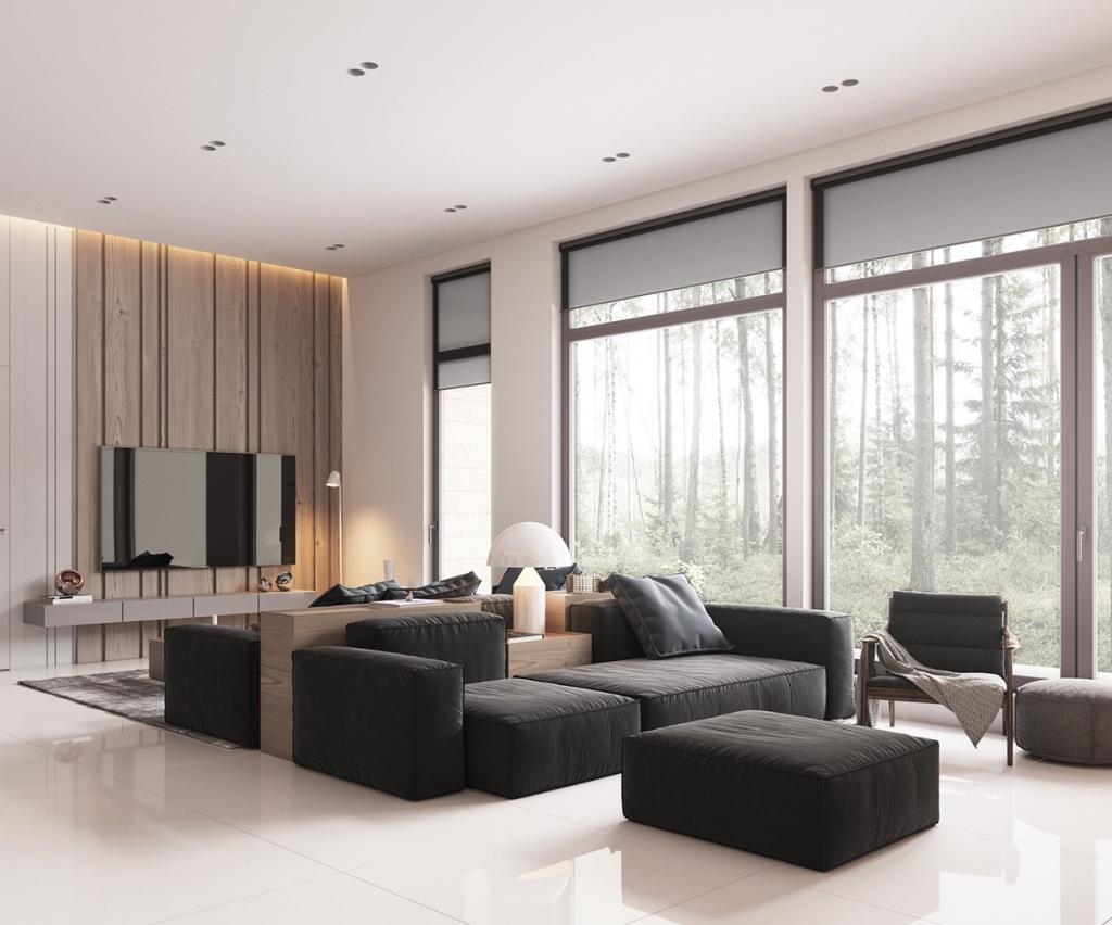 Пример конструкции мебели для минималистичного интерьера