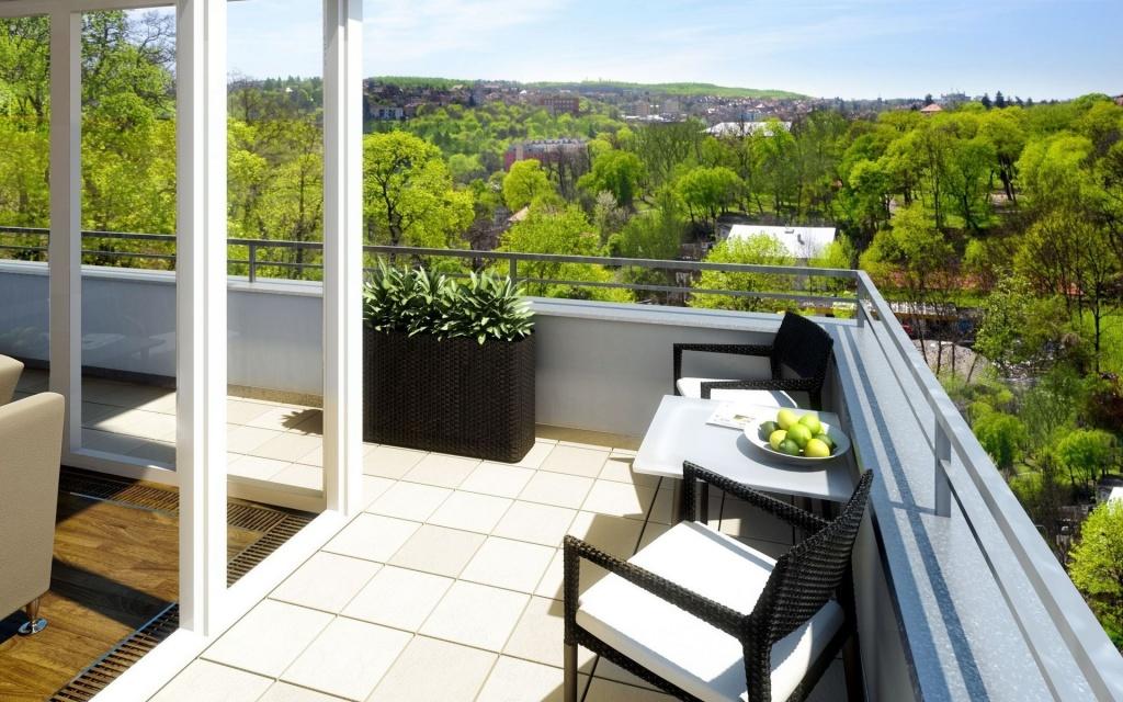 круговая терраса-балкон на третьем этаже дома
