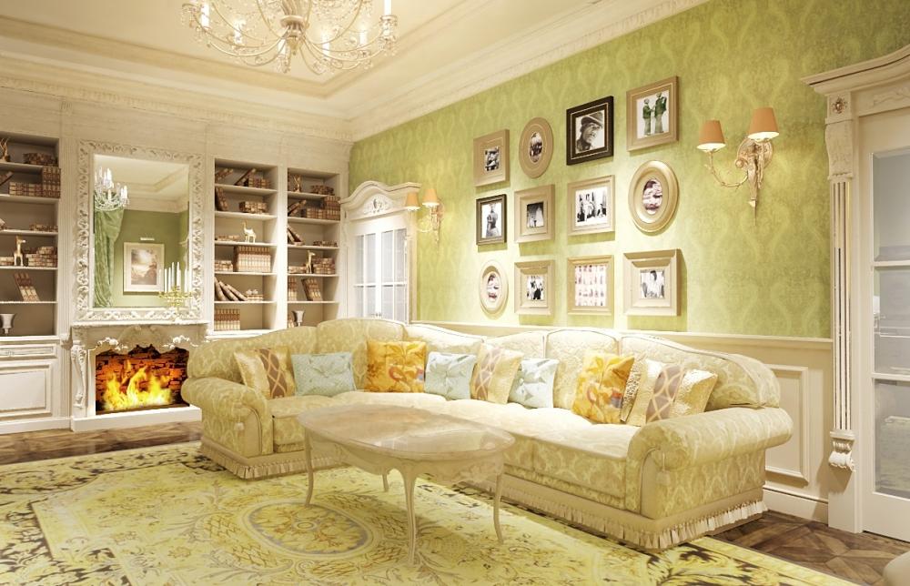 комната в стиле прованс тёплых желтых тонов