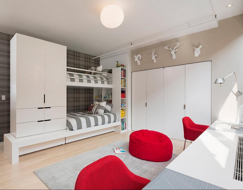 Вариант цветового решения комнаты для подростков