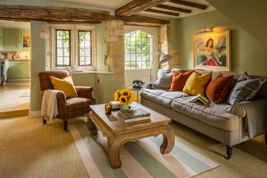 Зеленая гостиная в английском доме