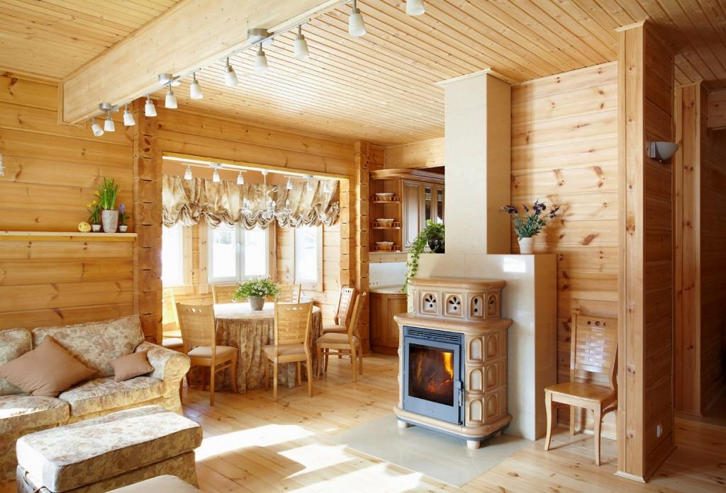 Дизайн гостиной, объединенной с кухней
