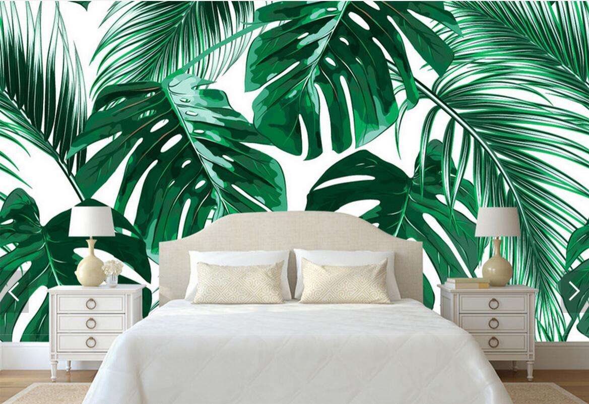 Растительные узоры и мотивы в дизайн-проекте спальни в двухкомнатной квартире