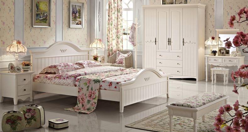 романтичные цветочные спальни