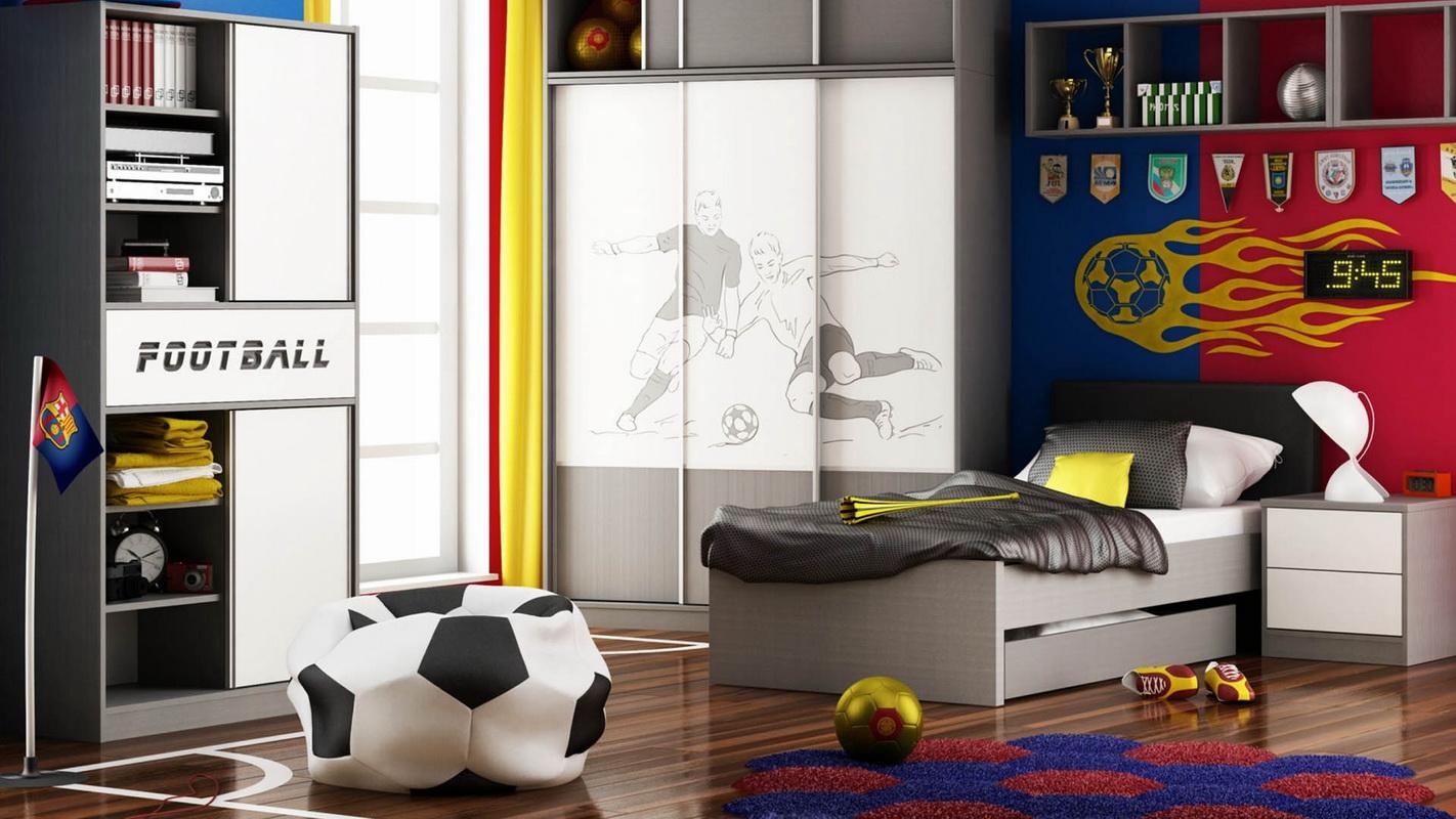 спальня для подростков спорт