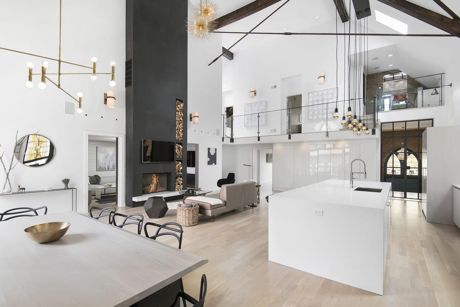 Дизайн интерьера кухни. Индустриальный лофт.