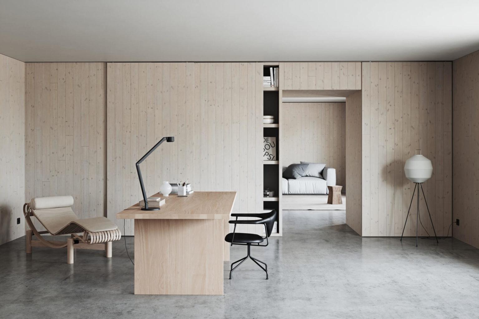 минимализм рабочий кабинет